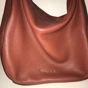 Real Micheal Kors Maroon Leather Shoulder Bag